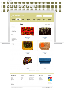 Janestore ecommerce website design by dientweb category page design