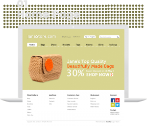 Janestore ecommerce website design by dientweb home page design