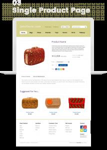 Janestore ecommerce website design by dientweb product page design