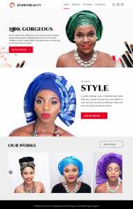 corporate website design by DientWeb for HaddyBeauty Makeup Artist in Lagos Nigeria home page design