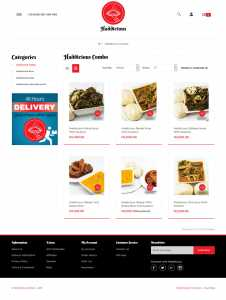 ecommerce website design for Haddicious by DientWeb best ecommerce developer in lagos nigeria category page
