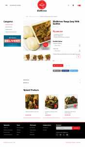 ecommerce website design for Haddicious by DientWeb best ecommerce developer in lagos nigeria product page design