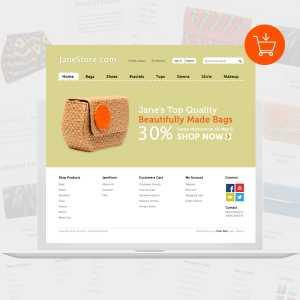 Janestore eCommerce website design by DientWeb