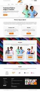 website design for lussano apparels by DientWeb the best web designer in lagos nigeria home page design