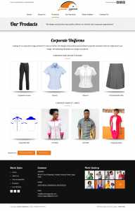 website design for lussano apparels by DientWeb the best web designer in lagos nigeria product page design