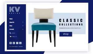 KV Chairs eCommerce Website Design by DientWeb