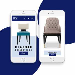 KV Chairs eCommerce Website Design by DientWeb -Mobile Home Page
