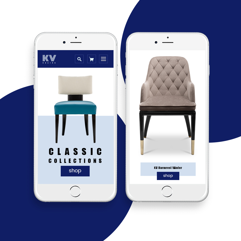 KV Chairs ECommerce Website Design By DientWeb  Mobile Home Page