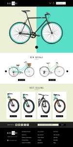 bikestore ecommerce website design by DientWeb - Desktop view