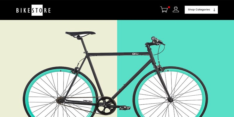 ecommerce website design by dientweb for bikestore