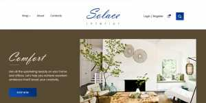 ecommerce website design by dientweb for solace