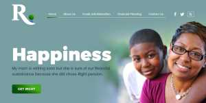 website design by dientweb for right pension
