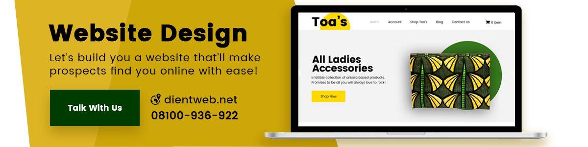 Web Design Company Lagos Nigeria - DientWeb
