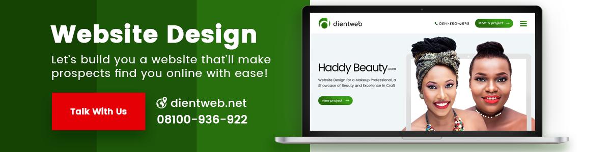 Web Designer in Lagos - DientWeb.net