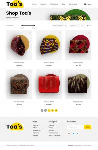 ecommerce website design by dientweb shop page
