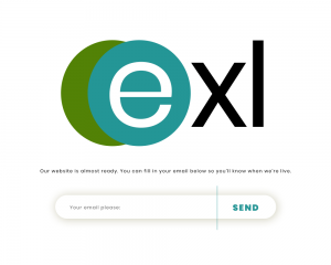 exl coming soon web page UI design