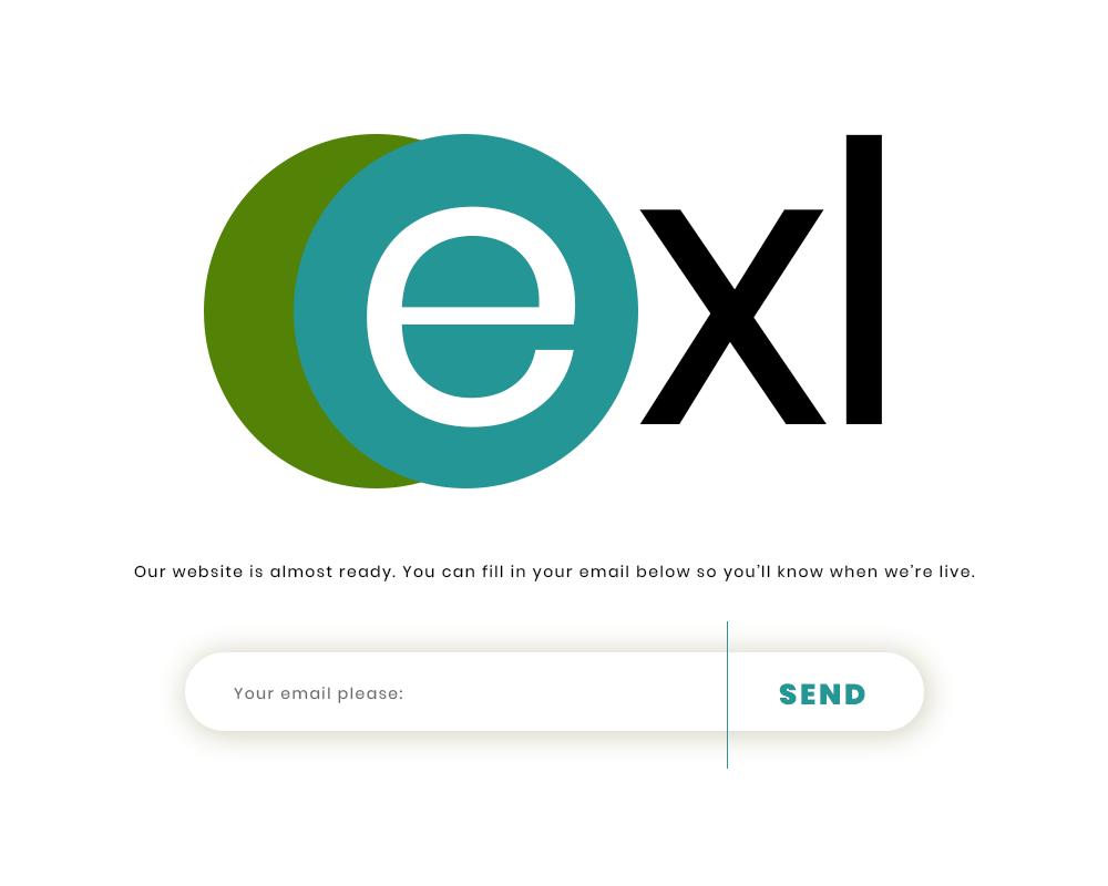 exl coming soon web page UI design