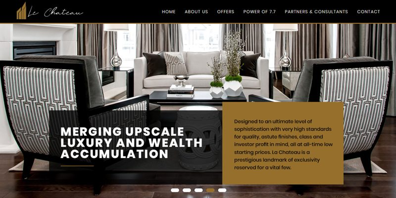7point7homes website design