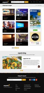 website category page design