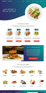 branch cuisine eCommerce website design by DientWeb