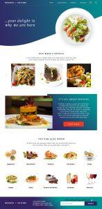 branch cuisine website design by DientWeb