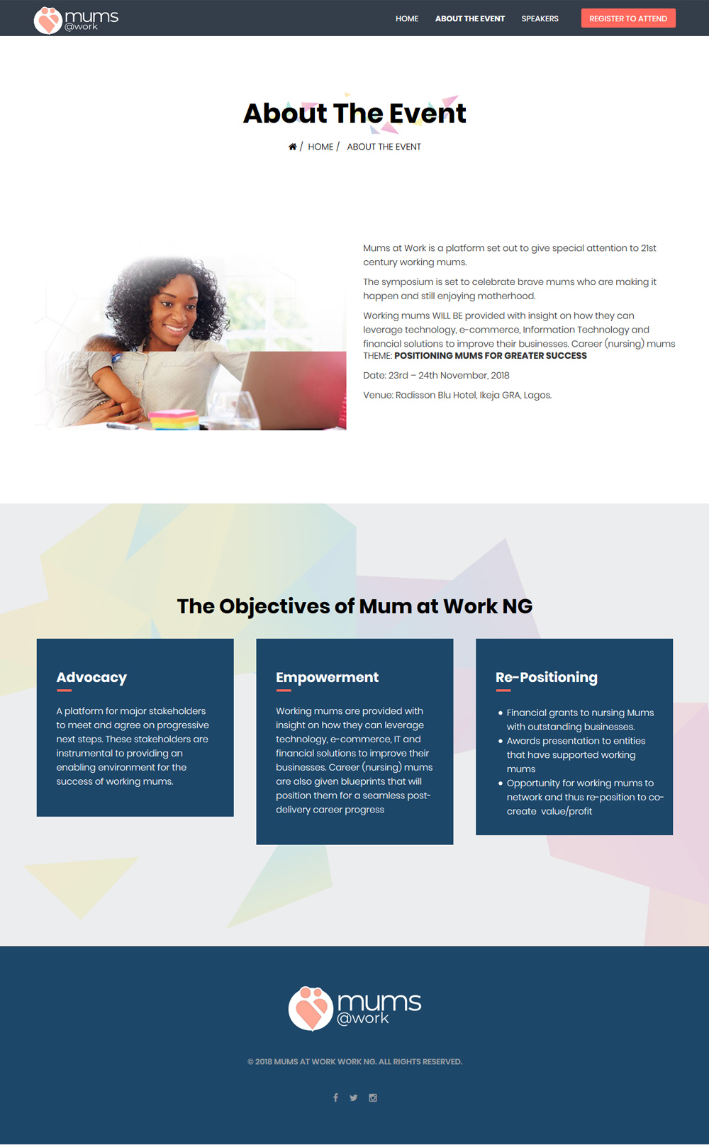 mums at work website home page