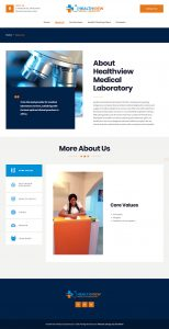 healthview website design about page