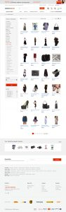 ecommerce web design category page