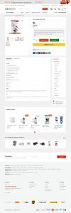ecommerce website design product page