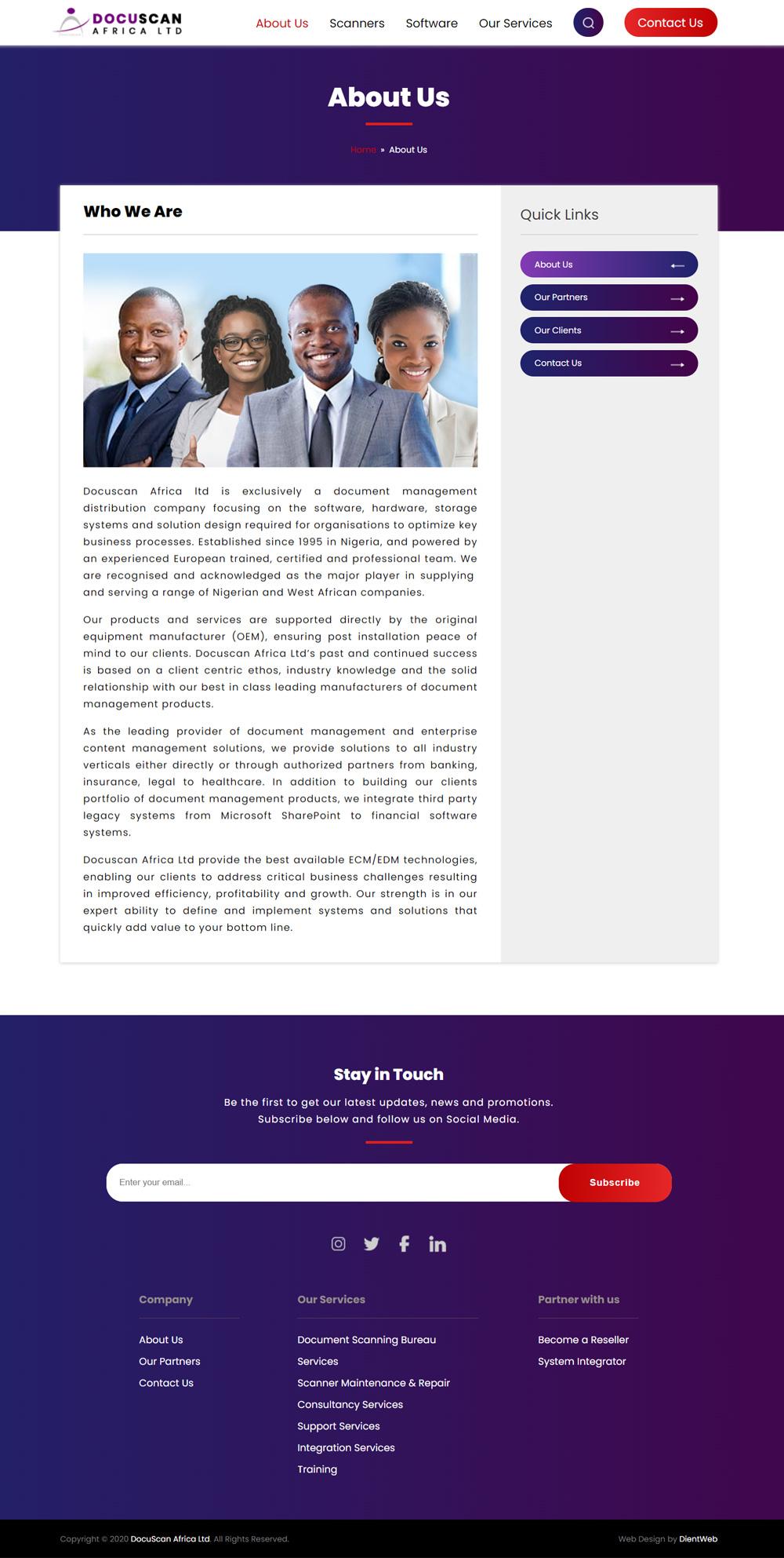 docuscan website redesign