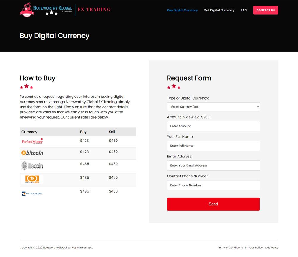 fx trading website design