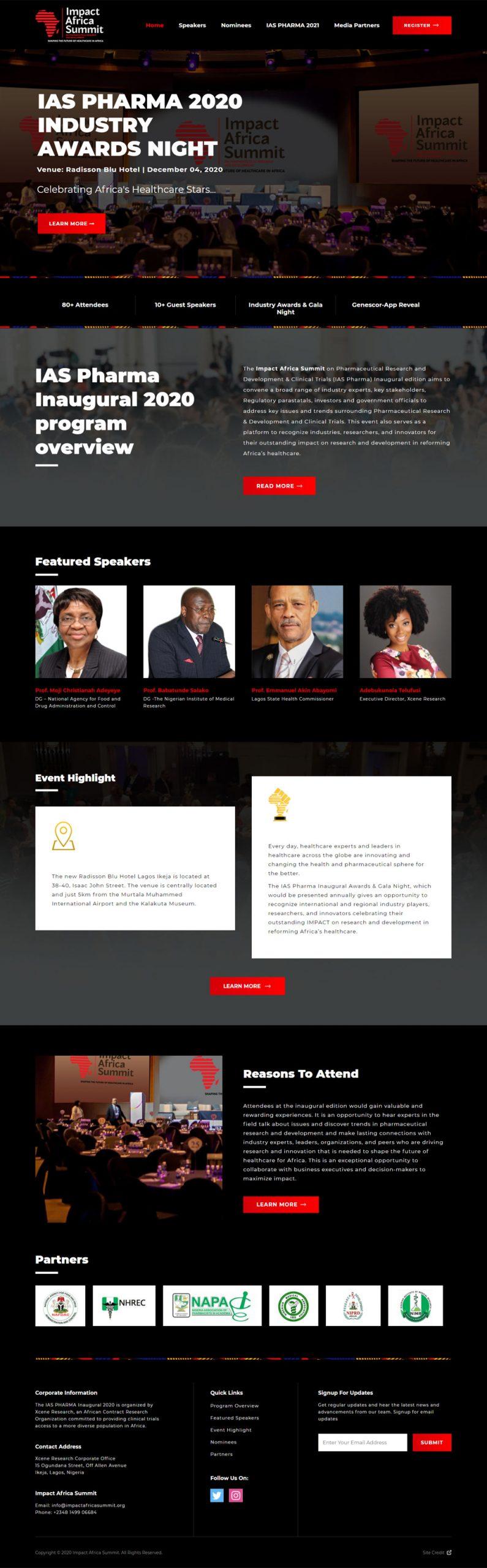 IAS website design