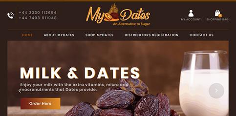 myDates ecommerce website design